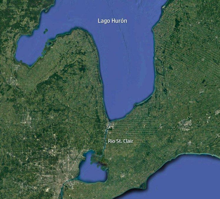 Desembocadura del lago Hurón